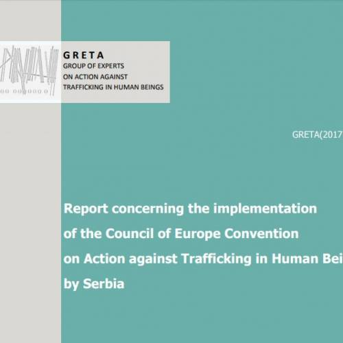 GRETA published second report on the field combating and suppressing trafficking in persons in Serbia
