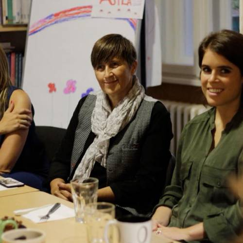 HRH Princess Eugenie of York and UN Trust Fund representatives visited ASTRA
