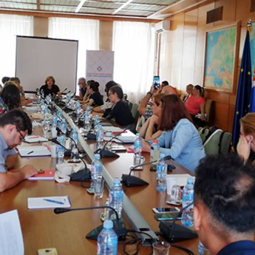 "Presented ""Study on compatibility of the law of the Republic of Serbia with EU acquis communautaire in the area of combating trafficking in human beings"""