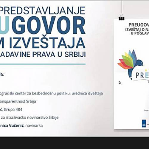 Presentation of the latest ALARM report of the prEUgovor coalition on Serbia's progress in Chapters 23 and 24